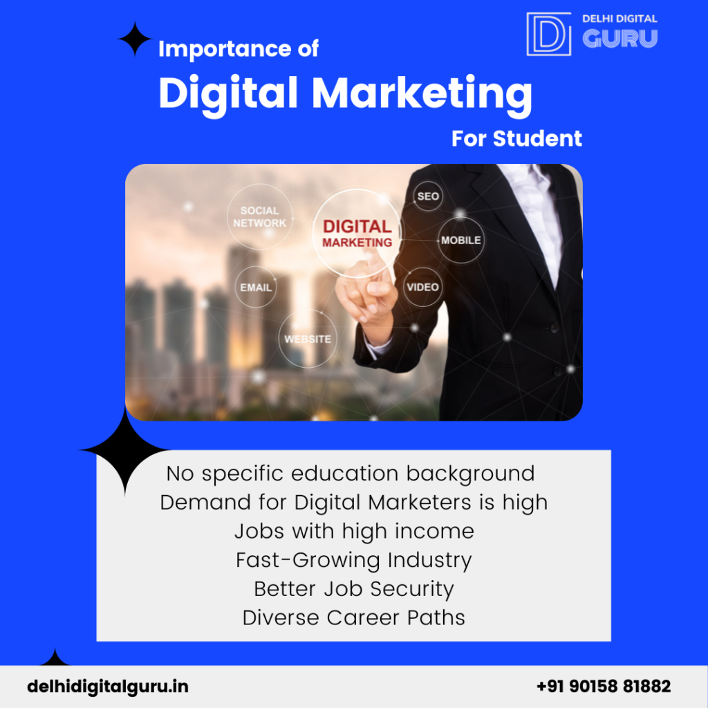 pointers about importance of digital marketing for student